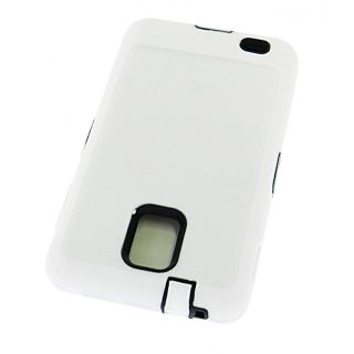 Samsung Infuse 4G Impact Defender Case Double Layer Hard Soft White
