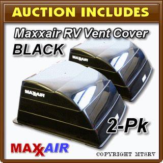 Maxxair Vent Cover Black 2 Pack Brand New Maxx Max Air RV Trailer