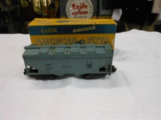 AMERICAN FLYER JERSEY CENTRAL LINES CRP 924 TRAIN CEMENT CAR W/ OB S