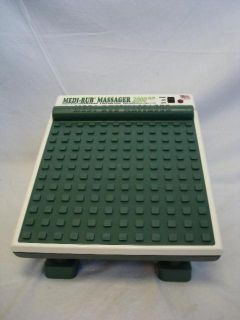 Medi Rub Foot Massager 2000 Plus Green 2 Speed Heavy Duty Personal
