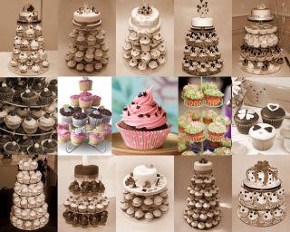 Tier Maypole Acrylic Cupcake Party Wedding Cake Stand