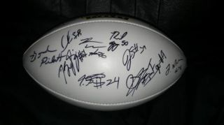 2012 LSU Tigers Team Signed Football Certificate Proof