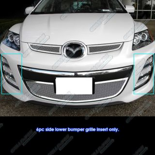 2010 2012 Mazda CX7 I CX 7 s Bumper Stainless Steel Mesh Grille Grill