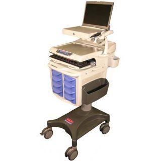 Adjustable Hospital Mobile Medication Cart w Warranty 9M29 08