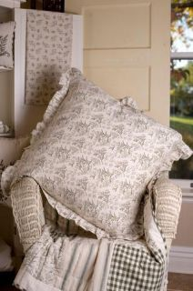 Victorian Heart Meadowsedge King Queen Quilt Bed Skirt Sham Pillow