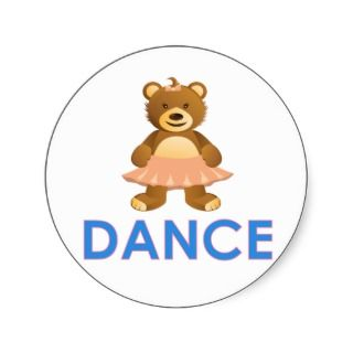 Adorable Dance Bear Gifts  Sticker