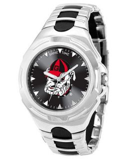 Game Time Watch, Mens University of Georgia Black Rubber and