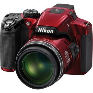 Nikon Coolpix P510 Red 16 1MP Digital Camera 018208263301