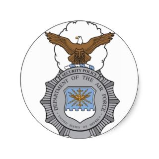 USAF Security Police Badge Stickers