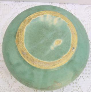 Early McCoy Vellum Fawn Green Grey Gray Mottled Pottery Flower Pot