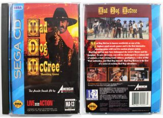 Sega CD Mad Dog McCree Shooting Video Game Complete Set