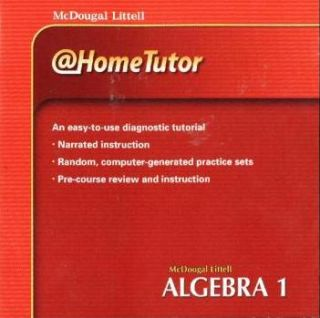 McDougal Littell Algebra 1 @Home Tutor PC MAC CD learn math concepts