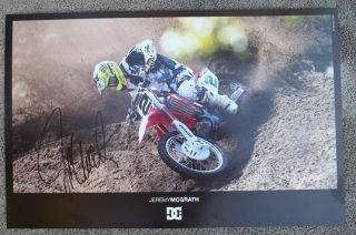 Jeremy McGrath Signed Autographed Poster Honda Monster DC Shoes