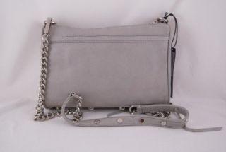 Rebecca Minkoff Mini Mac Clutch in Soft Grey with Silver Hardware
