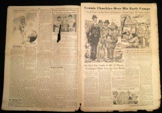 The Sporting News Baseball Newspaper Magazine 22 March 1950 Vintage