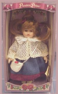 DANDEE GENUINE FINE BISQUE PORCELAIN PETITE GIRL DOLL