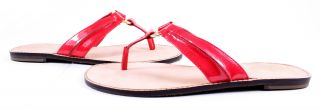Lilly Pulitzer McKim Patent Leather Sandals Pink Shoes 7 New