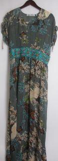 Meghan Fabulous Sz XL Printed Maxi Dress w Beading Medium Gray New 2nd