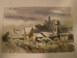 Susan Canavarro Mendocino Streets Original Signed Watercolor Fine