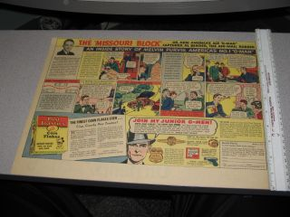 Newspaper Ad 1930s Melvin Purvis G Man Comic Book Strip Premium Gun
