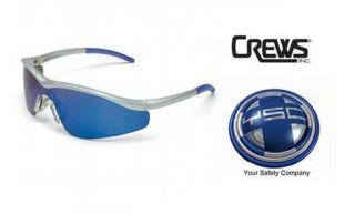 Pair Crews T1148B Triwear Safety Glasses Steel Frame Blue Diamond
