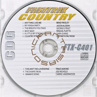Country Music Karaoke CD Fast Trax FTX 402 CDG 2011 Artist Songs Paper