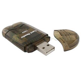 Portable Smoke SDHC SD MMC Memory Card Reader to USB 2 0 Adapter