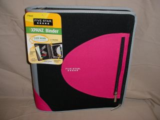 Mead 2 inch Xpanz Binder Pink Black New