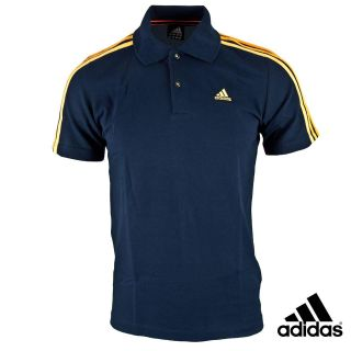 Adidas Essentials Men Navy Blue Polo T Shirt Top s M L XL Cheapest