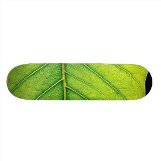 Green Leaf Leaves Skate Boards