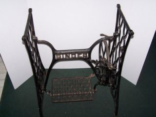 Vintage Singer Sewing Machine Cabinet Base Stand Cast Iron Treadle