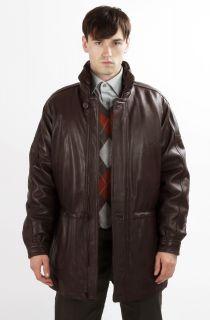 United Face Mens New 3 4 Length Classic Lambskin Leather Jacket Coat