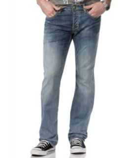 Buffalo David Bitton Jeans Straight Leg Jeans, Six Embroidery Straight