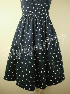 New Anthropologie Melora Polka Dot Navy Dress by Moulinette Sos