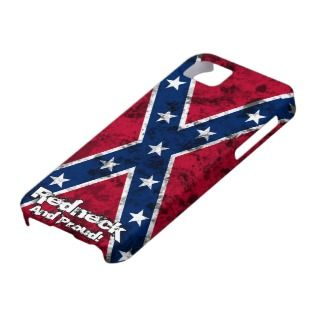 Redneck and Proud. Grunge Confederate Flag iPhone 5 Cases