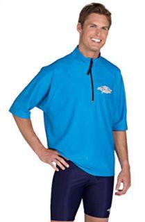 Big Mens Plus Size Zippered Rash Guard Swim Shirt