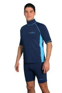 Mens UV Sun Protection Swimwear Clothing Rash Guards Shorts Surf