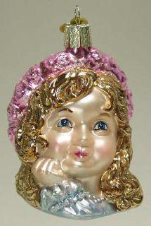 Merck Familys Xmas Ornament Angel Girl Face 6574574