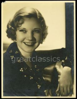 Una Merkel George Hurrell Vintage 1930 Oversize Double Weight Glamour