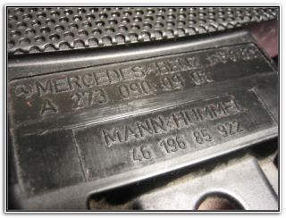 Mercedes Benz CLS Air Cleaner Engine Cover