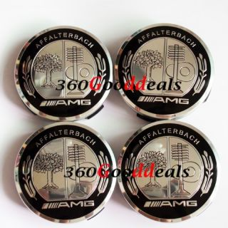 4PCS MERCEDES BENZ AMG WHEEL CENTER CAPS SLK ML B C E S CLS All Car