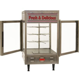 Rotating Heated Display Cabinet & Food Warmer, Commercial Double Glass