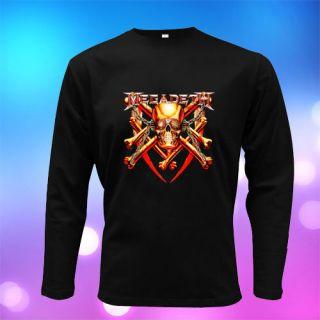 New Megadeth Skull Logo Men T Shirt Size s to 3XL