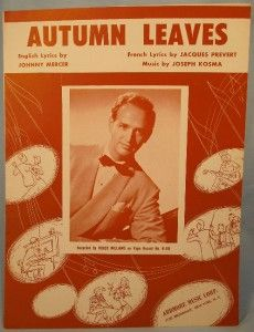 Great 1950 Autumn Leaves Sheet Music Roger Williams O