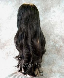 Wigs Megan Fox Style Gorgeous Dark Brown Long Wig US Seller