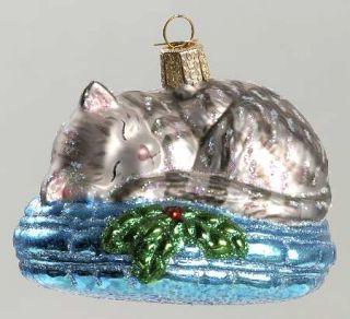 Merck Familys Christmas Ornament Tabby Cat Nap 7680828