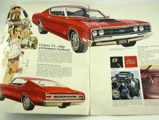 1969 69 Deluxe Mercury Brochure Cyclone Montego Comet