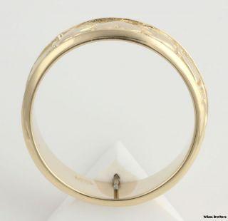 9mm Mens Irish Claddagh Wedding Band   14k Solid Yellow Gold Ring