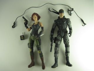 McFarlane Metal Gear Solid Snake and Meryl Silverburgh Action Figure