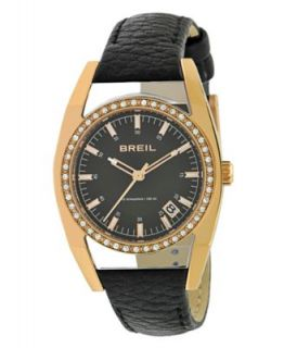Bulova Watch, Womens Black Lizard Leather Strap 28mm 98P118   All